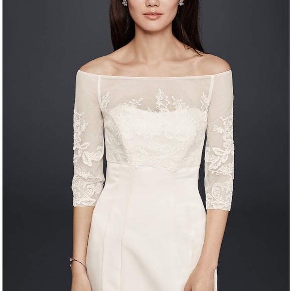 Davids Bridal Jackets Coats Davids Bridal Lace Wedding Dress